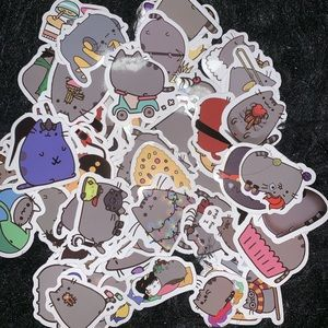 Other - CUTE PUSHEEN STICKERS Bundle of 18